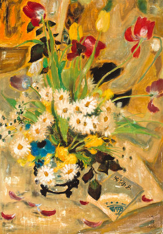 Le Pho (Vietnamese/French, 1907-2001) Bouquet of Flowers 25 x 17 3/4in (63.5 x 45.1cm)