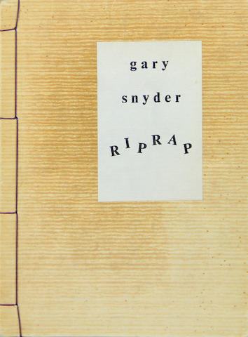 SNYDER, GARY. Riprap. [Ashland, MA]: Origin Press, 1959.