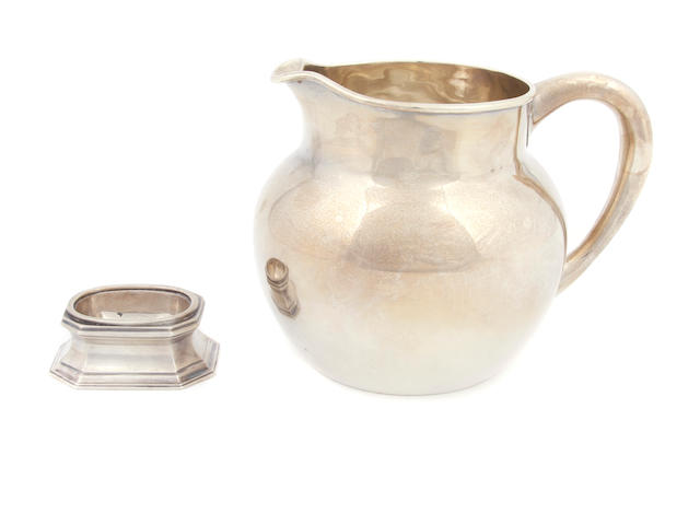 A Victorian sterling silver  pitcher Charles Reily & William Storer, London,  1856
