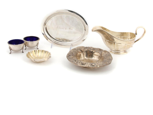 An assembled group of  sterling silver  hollowware  20th century