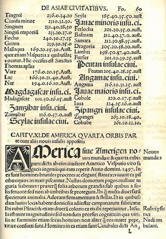 [SCHOENER, JOHANN. 1477-1547. Luculentissima quaedam terrae totius descriptio. Nuremberg: Johannes Stuchs, 1515.]<BR />