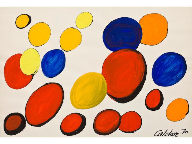 Alexander Calder (American, 1898-1976) Elliptique, 1970 29 7/16 x 43 1/4in (74.7 x 109.8cm)