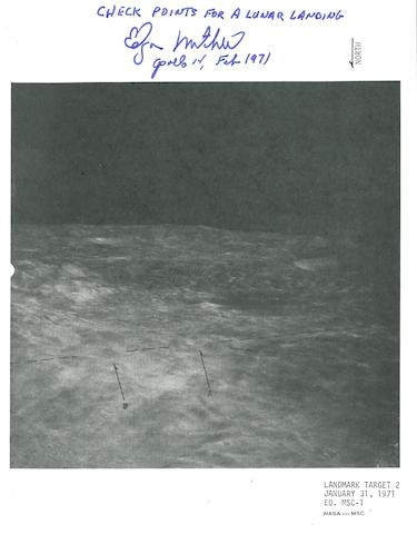 "LUNAR LANDMARK PHOTO TARGET TRAINING MAPS. FOR FLIGHT USE AND SUPPORT CREW TRAINING .  ""Landmark target 1, 2, and 3.  January 31, 1971.  ED. MSC-1."""
