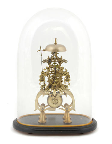 An English brass skeleton timepiece