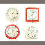 A set of eight kitchen clocks