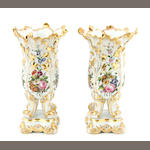 A pair of Paris porcelain vases