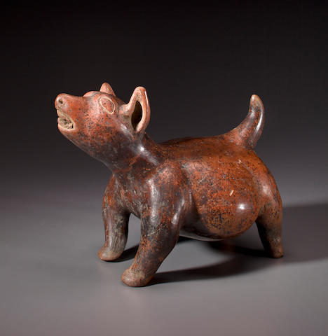 Colima Standing Dog,<BR />Protoclassic, ca. 100 B.C. - 250 A.D.