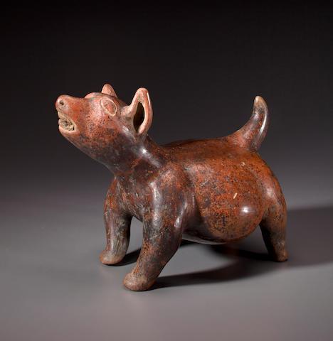 Colima Standing Dog,<BR />Protoclassic, ca. 100 B.C. - 250 A.D.