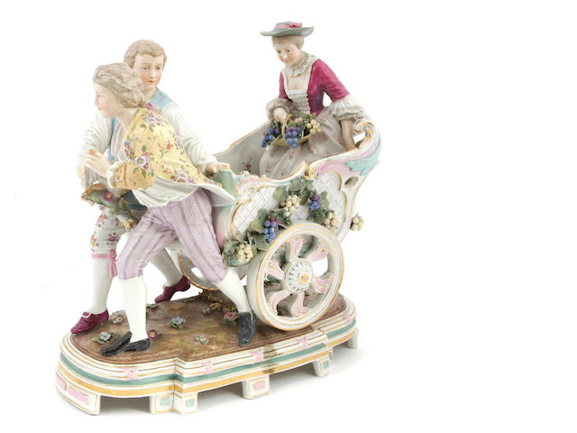 A German porcelain figural centerpiece