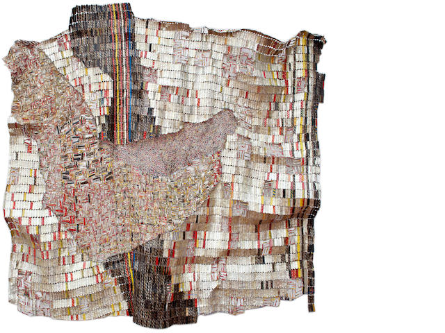 El Anatsui, work TBD (title, size, date, and estimate are all TBD)
