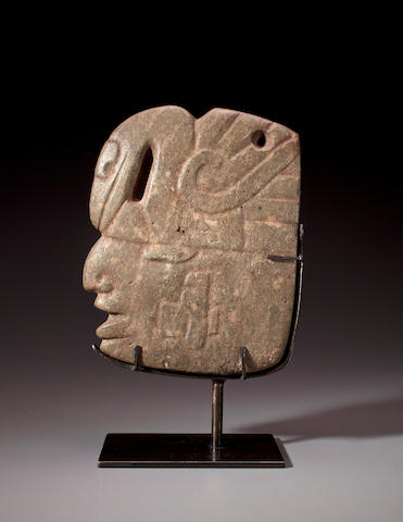 Mayan Stone Head Hacha, Pacific Slope Region,<BR />Late Classic, ca. A.D. 550-950