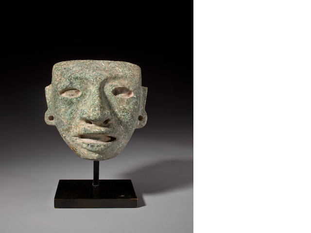 Teotihuacan Stone Maskette,<BR />Classic, ca. A.D. 450 - 650