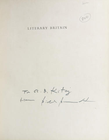 BRANDT, BILL. Literary Britain. Signed and inscribed to R. B. Kitag.
