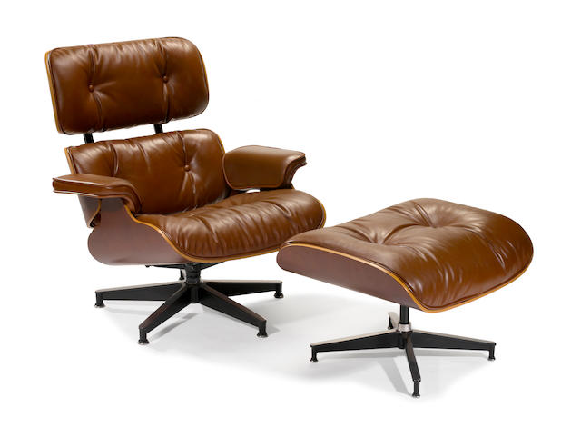An Eames lounge chair and ottoman