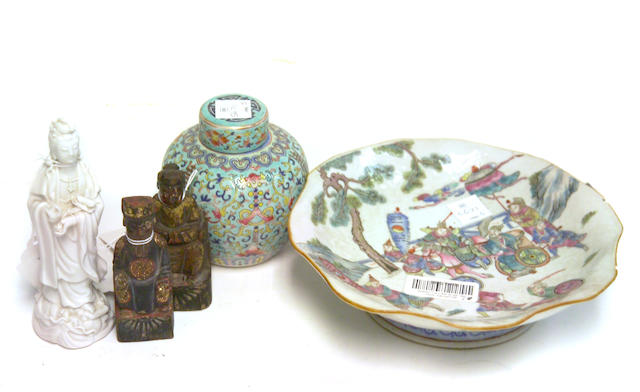 A group of five Chinese decorations