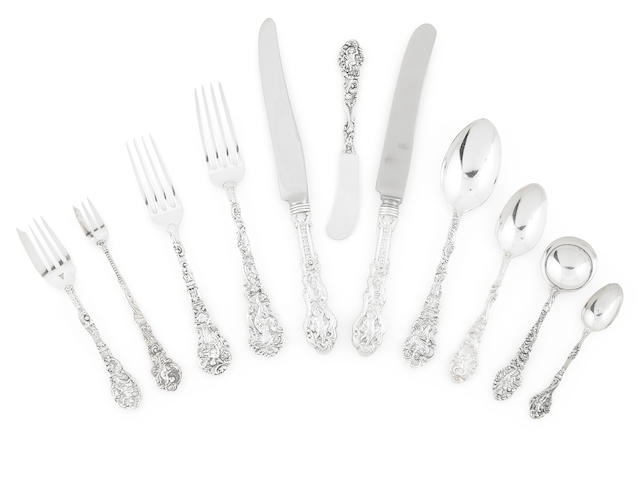 An American  sterling silver  assembled part flatware service for eighteen  Gorham Mfg. Co., Providence, RI,  early 20th century