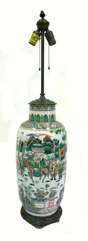 A Chinese famille verte porcelain vase
