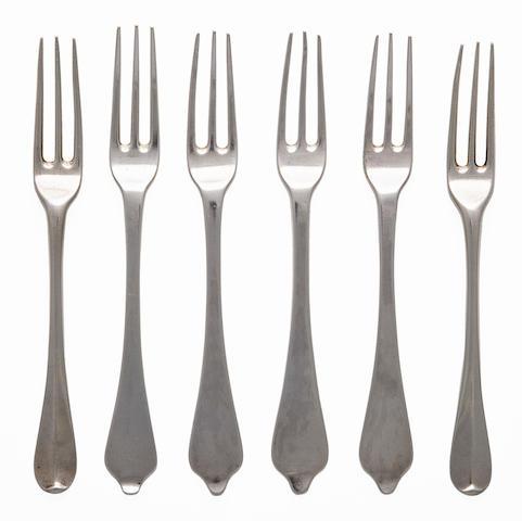 6 dessert forks