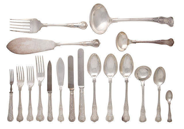 An English sterling silver large flatware service Elkington & Co., Birmingham, 1959