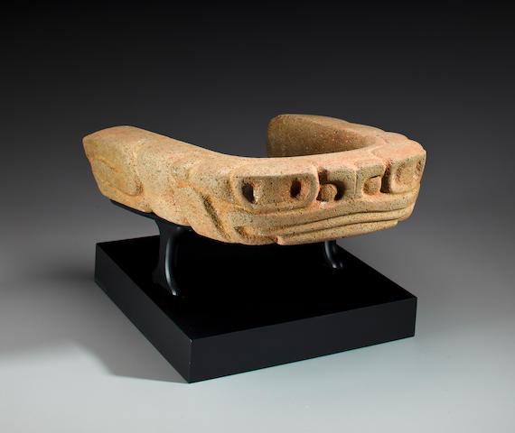 Veracruz Stone Yolk, Late Classic, ca. A.D. 550 - 950