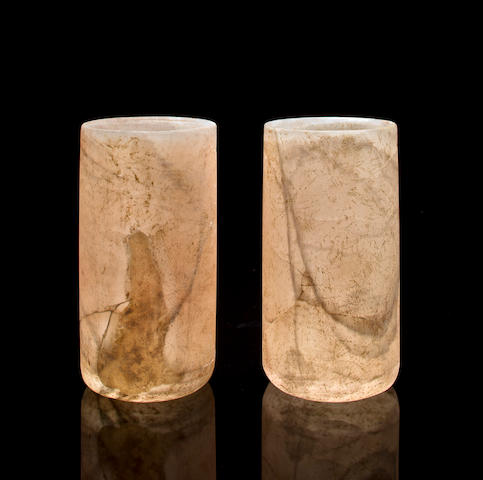 Pair of Xochipala Alabaster Cylinder Vases