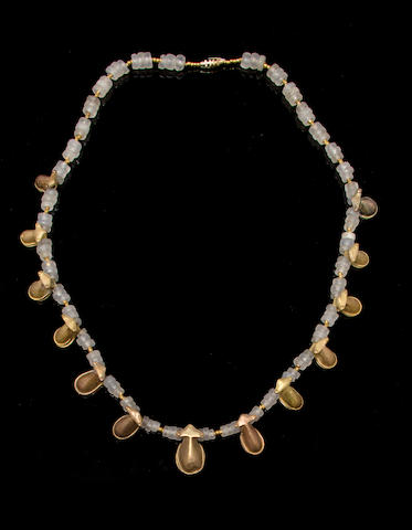 Tairona Gold and Quartz Necklace, ca. A.D. 1000 - 1400