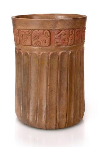 Maya Cylinder Vase, Classic, ca. A.D. 300 - 900
