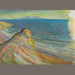Frederick S. Wight (American, 1902-1986) The Sea Gains II, 1981 48 x 66in (121.9 x 167.7cm)