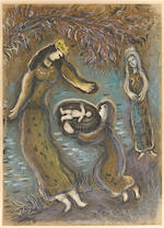 Marc Chagall (Russian/French, 1887-1985); The Story of the Exodus; (24)
