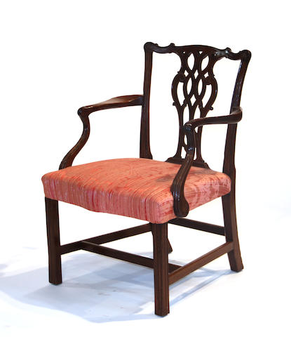 A George III mahogany chair