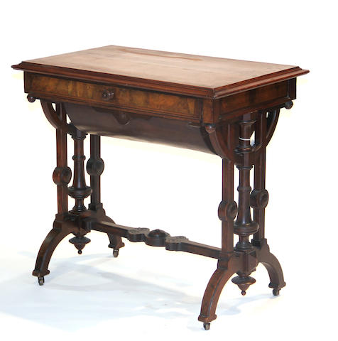 A Victorian Renaissance Revival mahogany side table mid 19th century
