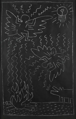 Keith Haring (1958-1990) Untitled, 1982 46 x 29 3/4in. (116.8 x 75.6cm)