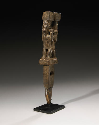 Yombe Janus Figural Rattle, Democratic Republic of Congo