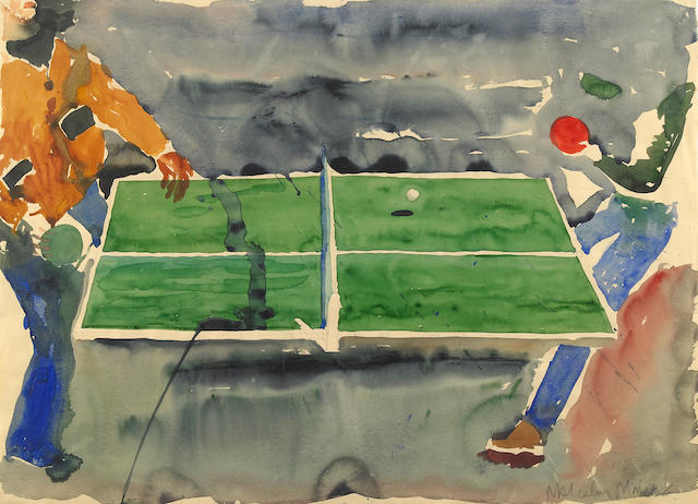 Malcolm Morely (born 1931) Ping Pong, 1975 22 3/4 x 31 1/4in. (57.8 x 80.6cm)