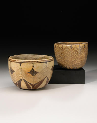 Two Chinesco Bowls, Protoclassic, ca. 100 B.C. - A.D. 250