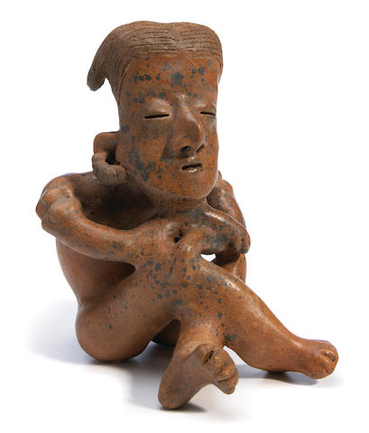 Nayarit Seated Figure, Protoclassic, ca. 100 B.C. - A.D. 250