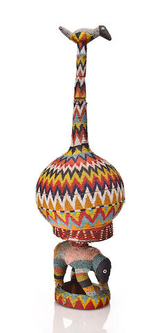 Grasslands Beaded Calabash, Cameroon