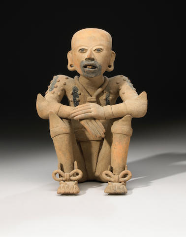 Veracruz Seated Priest, Remojadas, Late Classic, ca. A.D. 550 - 950