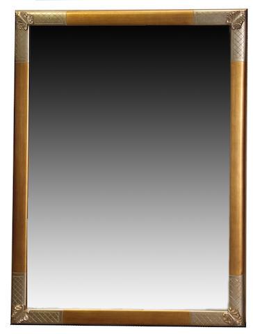 A George III style giltwood mirror 20th century