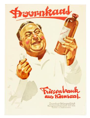 Ludwig Hohlwein (German, 1874-1949); Doornkatt;
