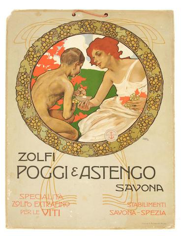 Leopoldo Metlicovitz (Italian, 1868-1944); Zolfi Poggi & Astengo;