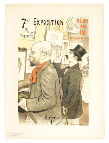 Frederic-Auguste Cazals (French, 1865-1941); Exposition du Salon des 100, Pl. 15;