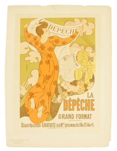 Maurice Denis (French, 1870-1943); La Dépêche, Pl. 140;