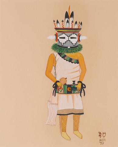 A Hopi painting, White Bear Fredericks