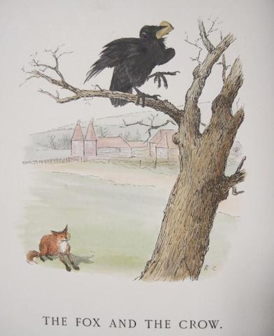 CALDECOTT, RANDOLPH, illustrator. Some of Aesop's Fables with Modern Instances... London: Macmillan, 1883.<BR />