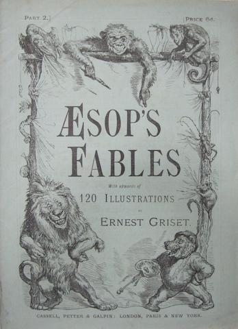GRISET, ERNEST, illustrator. Aesop's Fables. London: Cassell, Petter & Galpin, [c.1870].