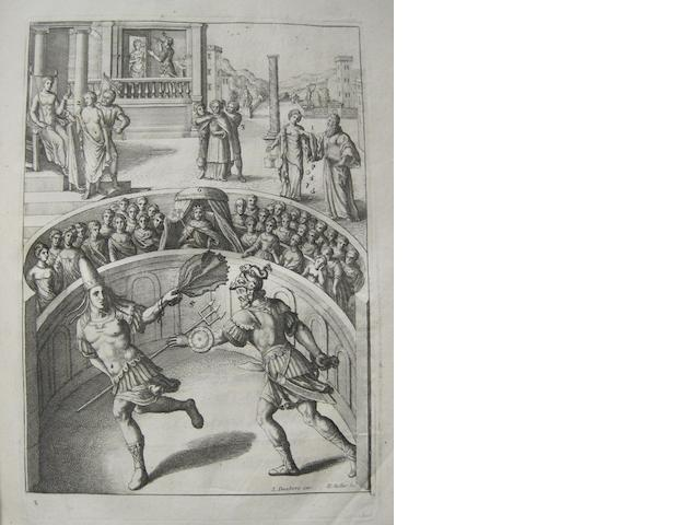 HOLLAR, WENCESLAUS, illustrator.  JUVENAL. Mores hominum. The Manners of Men, Described in sixteen Satyrs. London: R. Hodgkinsonne, 1660. <BR />