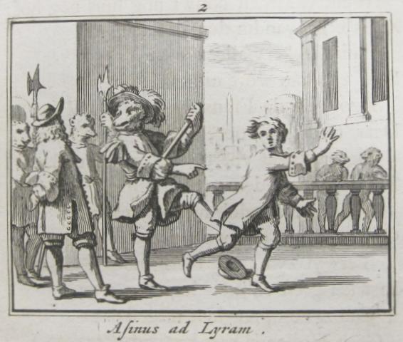 HOOGSTRATEN, JAN VAN. 1628-1654. Staat- en Zedekundige Zinnenprenten, of leerzame Fabelen.... Rotterdam: Arnold Willis, 1731.