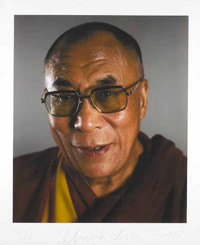 Chuck Close (born 1940) The Dalai Lama