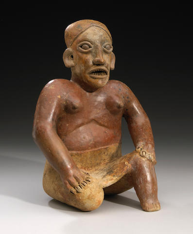 Jalisco Seated Female, Ameca Style,<BR />Protoclassic, ca. 100 B.C. - A.D. 250